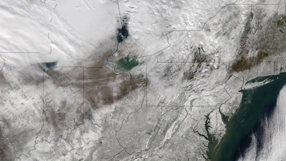 Furtuna Jonas văzută din cosmos GALERIE FOTO