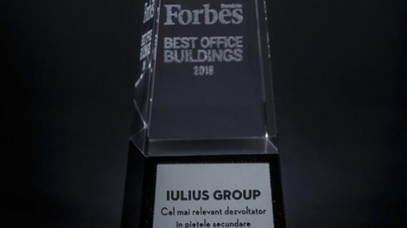 Recunoaştere naţională pentru Iulius Group la gala Forbes Best Office Buildings