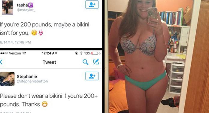 Cum arată 100 de kilograme în bikini
