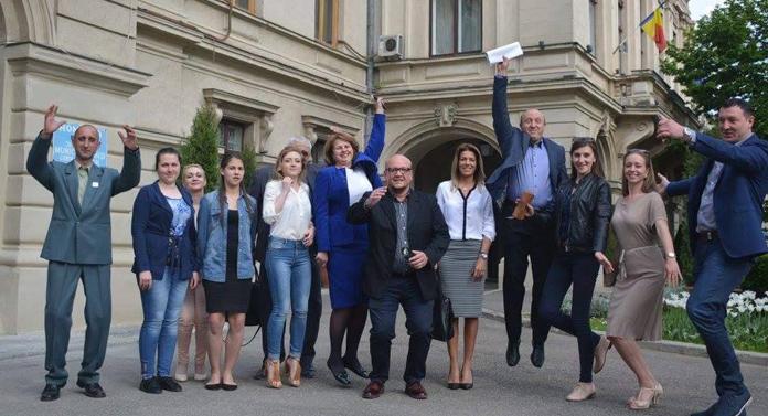 Candidatul ALDE s-a prezentat în centrul Iaşiului