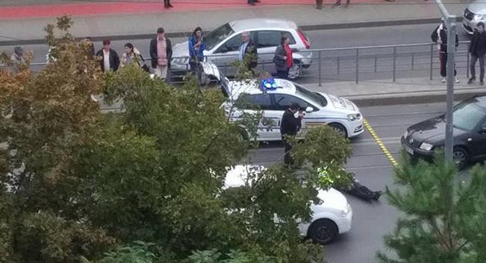 Bătrân accidentat în Nicolina