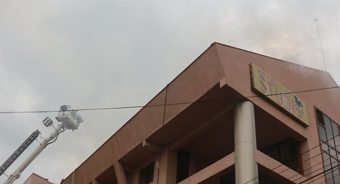 Fostul cămin UPA, în flăcări