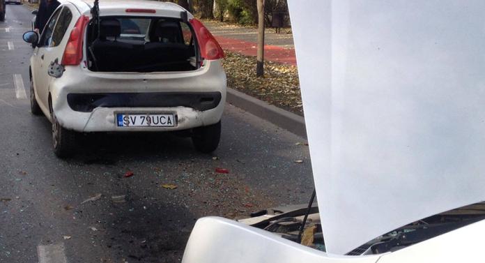 Accidente în lanţ pe Copou