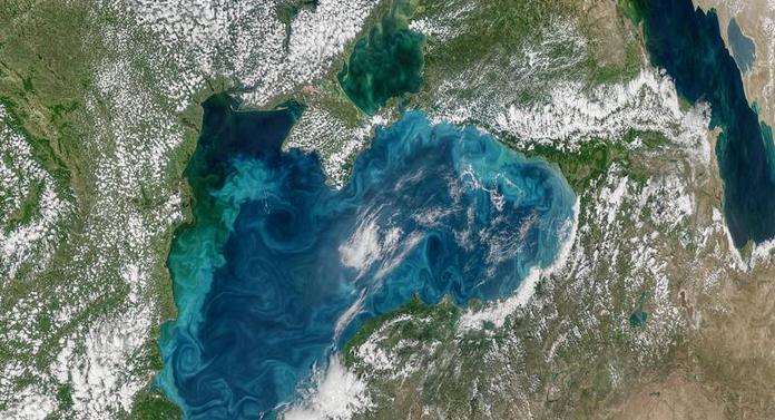 Imagine spectaculoasă a Mării Negre, publicată de NASA