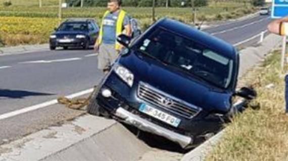 Au fost la un pas de nenorocire. Accident pe drumul care leagă Botoșani și Suceava