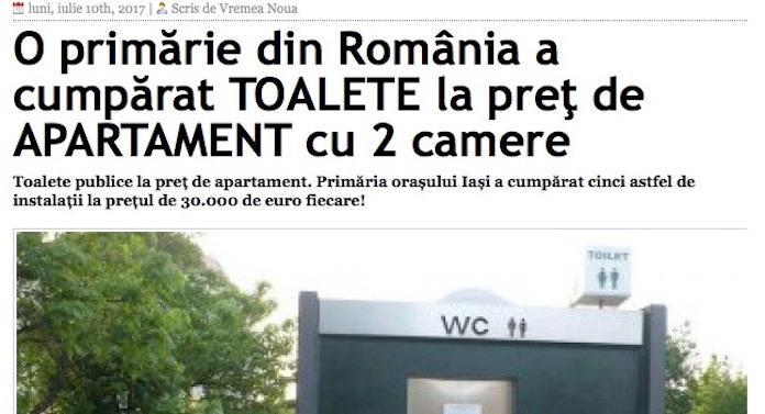 Un ziar din Vaslui râde de primăria Iași