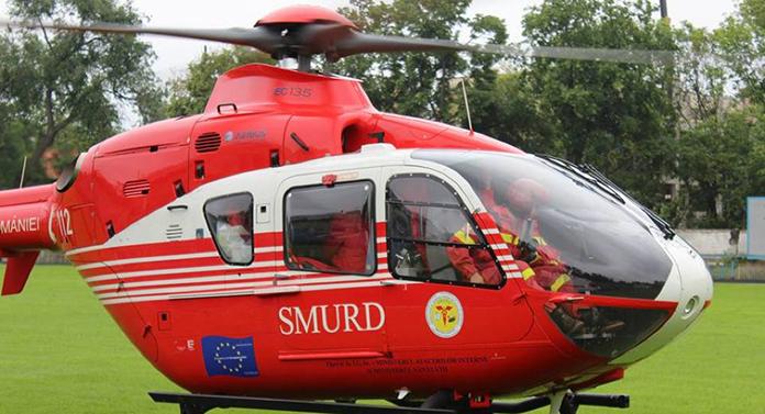 Pacientă din Botoșani, dusă de urgență cu elicopterul SMURD la Târgu Mureș