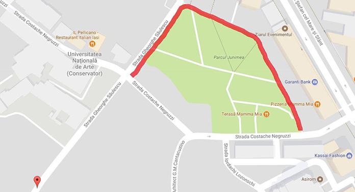 Continuă restricțiile de circulație pe strada Săulescu