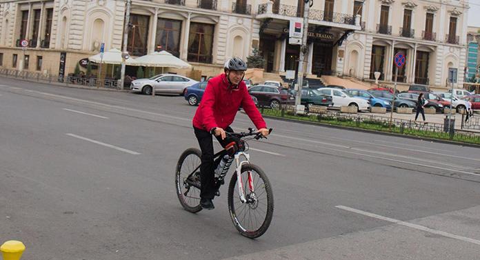 Senzațional de fantastic: Maricel Popa, biciclistul!