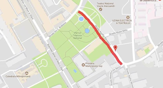 Circulație blocată în centrul Iașiului până sâmbătă noaptea