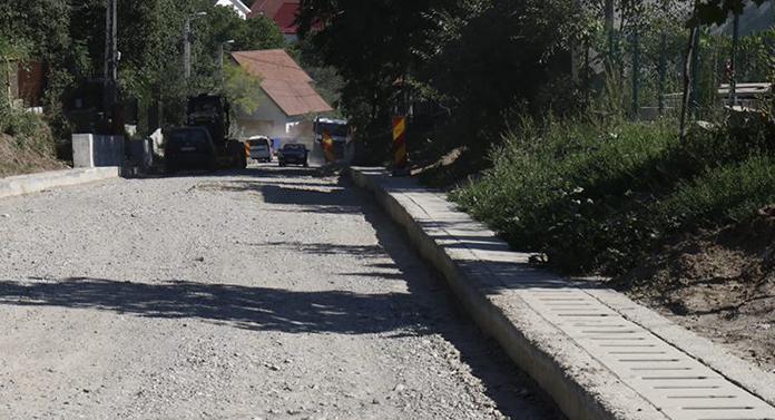 Lucrări pe strada Săulescu