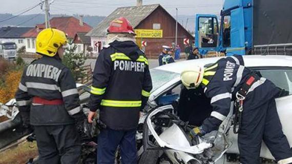 Accident cumplit în apropiere de Vatra Dornei