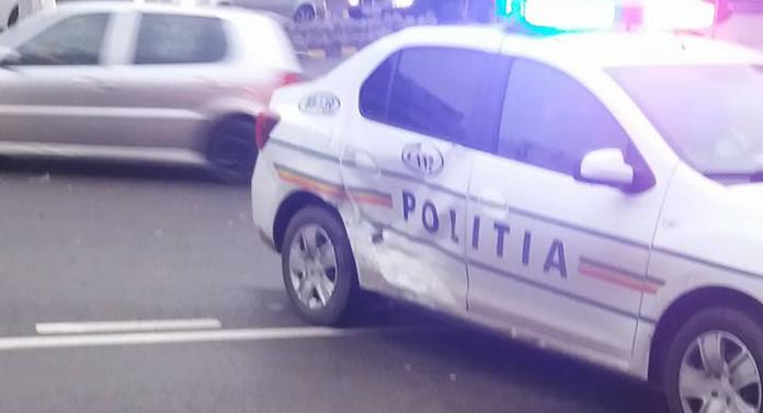 Accident spectaculos cu mașina Poliției
