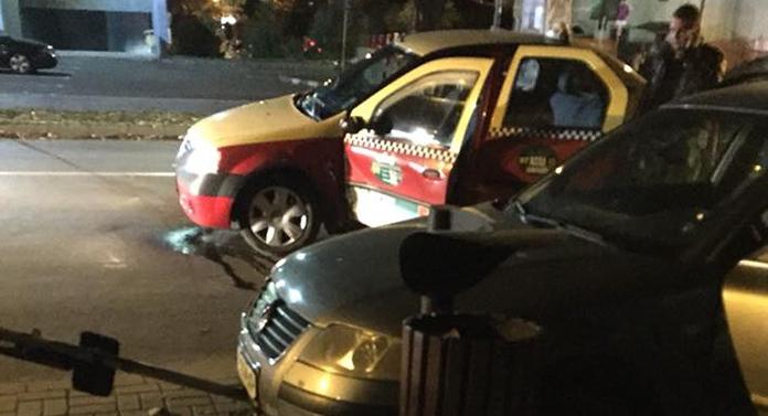 Accident cu un taxi în fața Spitalului de Copii