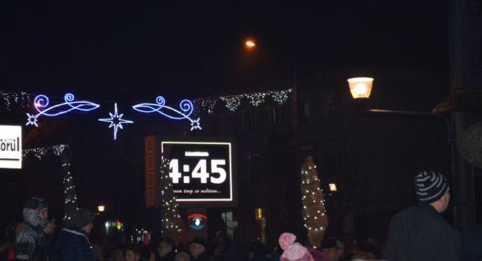 Vasluienii, bulversați de ceasul care trebuia să anunțe intrarea în noul an