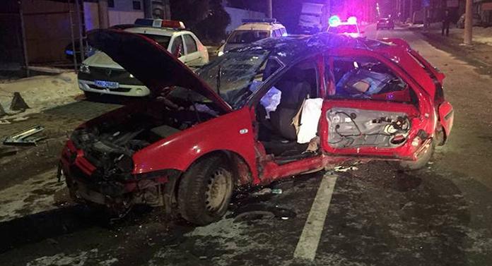 Accident cumplit noaptea trecută, în Suceava