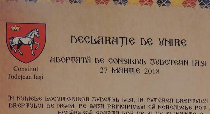 Consilierii județeni s-au jucat de-a unirea: declarație de unire cu Basarabia