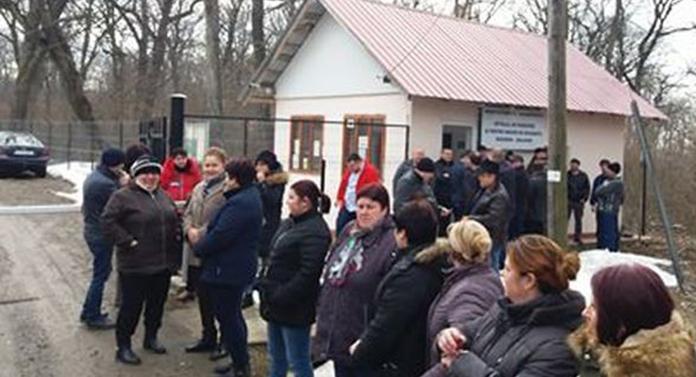 Protest al angajaților de la Spitalul de la Grajduri