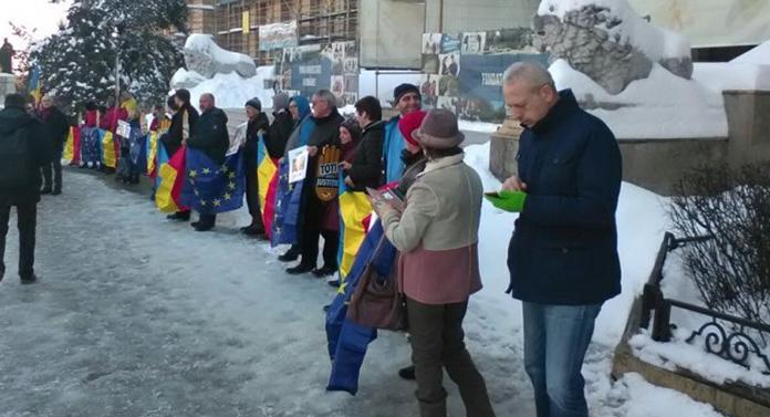Protest la Universitate împotriva ministrului justiției
