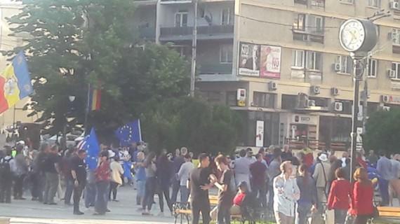 Protest împotriva coaliției de guvernare, la Iași