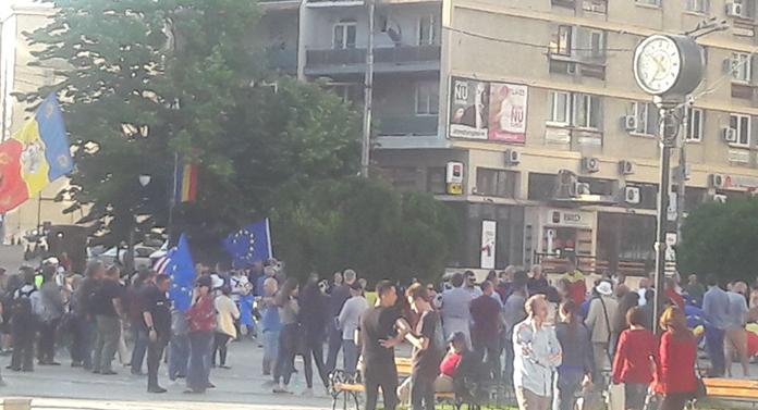 Proteste în Piaţa Unirii