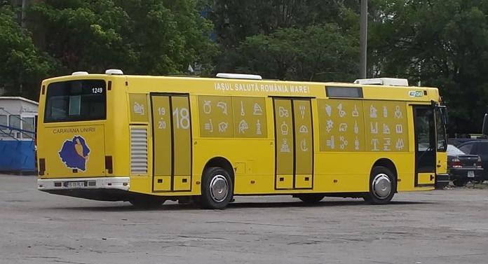 Caravana Unirii, cu autobuze în culorile drapelului național