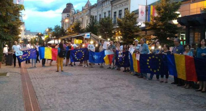 Un nou protest în Piața Unirii