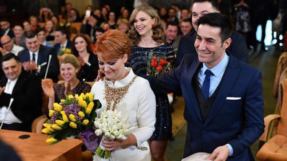 Primele imagini de la cununia civilă a Liei Olguța Vasilescu