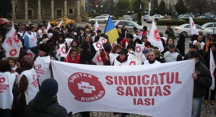 Protest al cadrelor medicale faţă de măsurile din domeniul sănătăţii