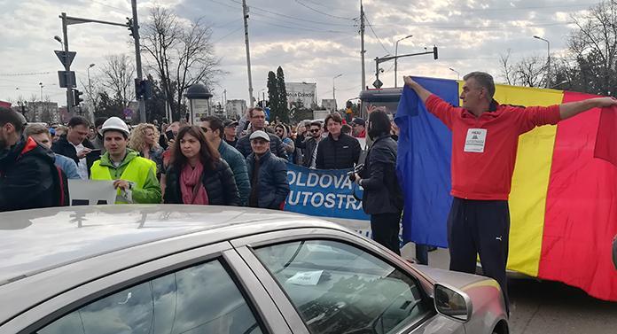 Protest pentru autostradă, la Iași