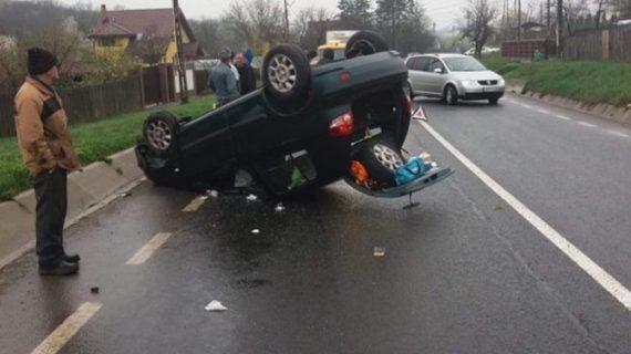 Accident spectaculos la Poieni