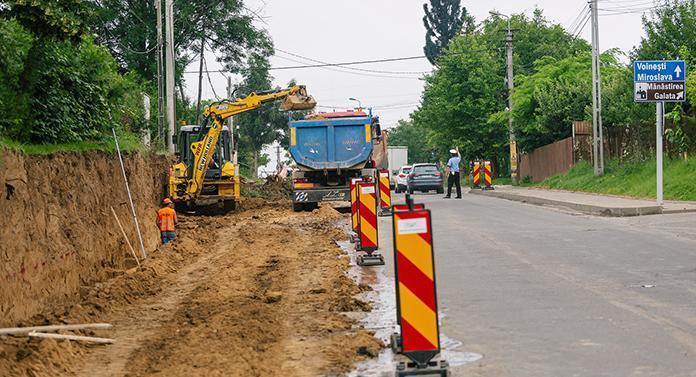 Nervii ieșenilor, puși la încercare de lucrările la șoseaua Iași – Voinești