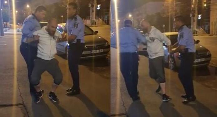 ȘOCANT pe străzile din Iași. Un șofer beat și fără permis, încătușat de polițiști