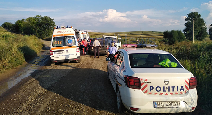 Accident cu trei victime în Botoșani. A fost rănit și un bebeluș