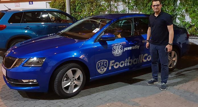 Mașină în culorile clubului pentru Mihai Teja