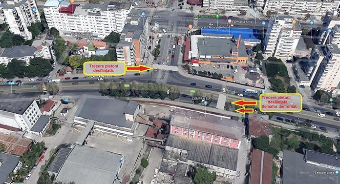 Primăria Iași a decis desființarea a două treceri de pietoni într-o zonă intens circulată