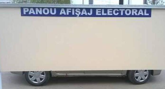 Care sunt locurile speciale pentru afişaj electoral în Iași