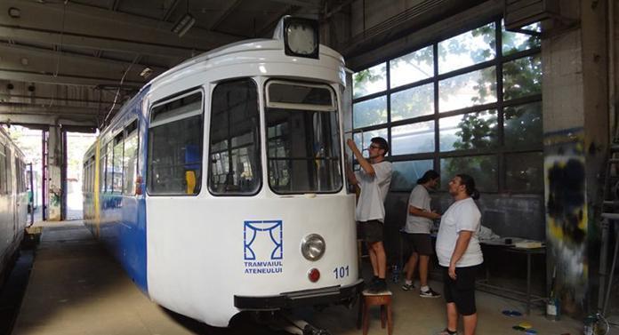 Cursa inaugurală a Tramvaiului Ateneului