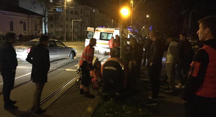 Accident cu 5 victime în centrul orașului