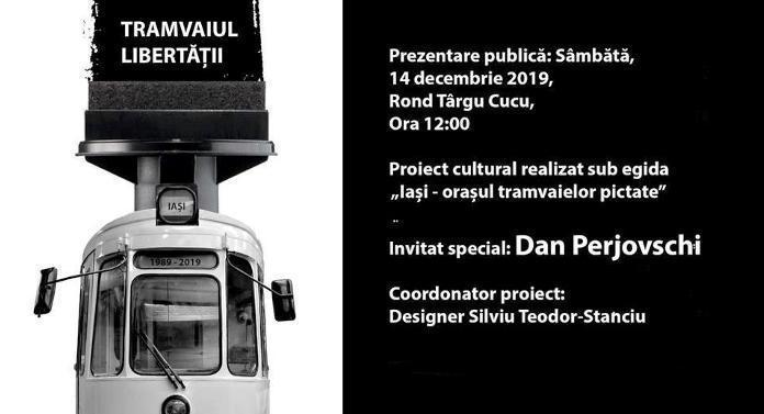 """""""Tramvaiul Libertății"""", în Iași, de sâmbătă"""