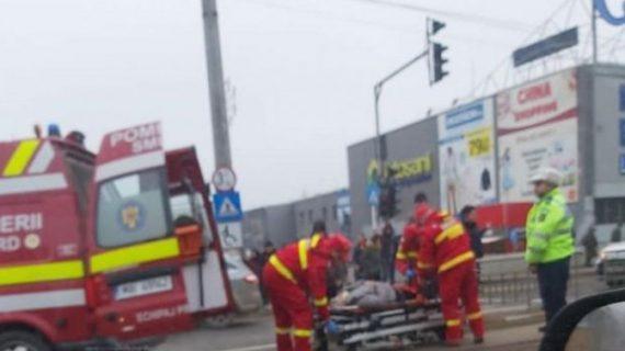 A accidentat o femeie şi a fugit de la locul faptei