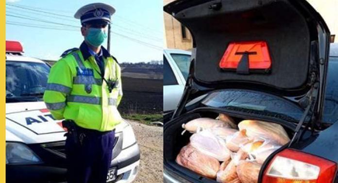 Un polițist le cumpără oamenilor pâine din banii săi. În plus, le-a compus și o poezie